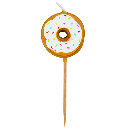 Donut Pick Birthday Candles - Pack of 6