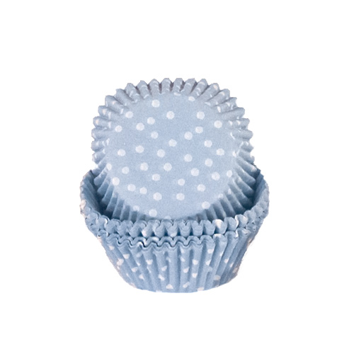 Dots Baby Blue Cupcake Cases - Pack of 72