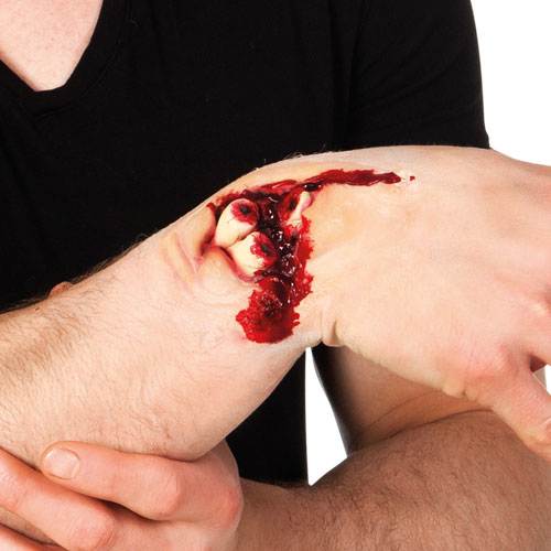 Double Fracture Latex Wound Halloween Fancy Dress Product Image