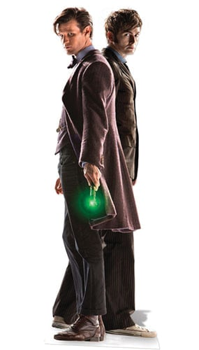 Dr Who 10th & 11th Doctor (50th Anniversary Special) Cardboard Cutout - 183cm