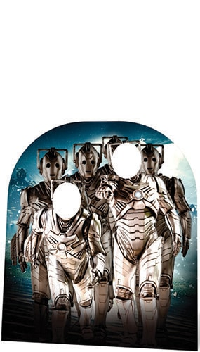 Dr Who Cyberman Child Size Stand In Cardboard Cutout - 151cm Product Image
