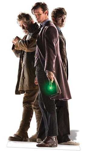 Dr Who The Three Doctors (50th Anniversary Special) Cardboard Cutout -183cm