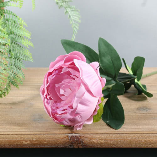 Dusky Pink Arundel Garden Peony Artificial Silk Flower 56cm