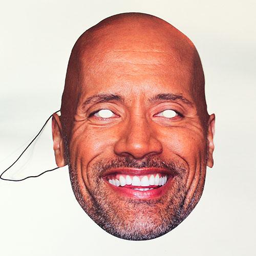 Dwayne Johnson Cardboard Face Mask Product Image