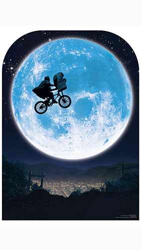 E T Full Moon Bicycle Child Size Cardboard Cutout 130cm Product Image