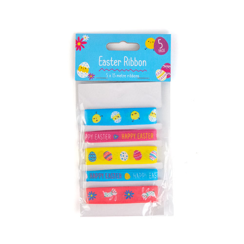 Easter Arts & Crafts Assorted Ribbons - Pack of 5