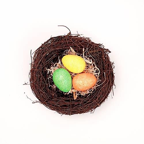 Easter Birds Nest with Glitter Eggs