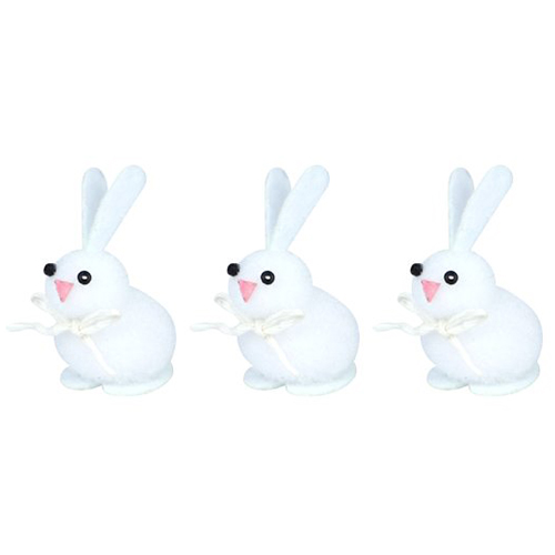 Easter Bunnies Decorations 4cm - Pack of 3 Product Image