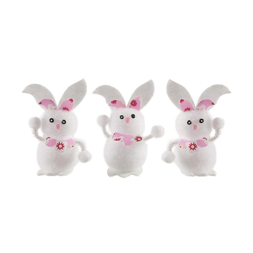 Easter Bunnies Decorations 5cm - Pack of 3