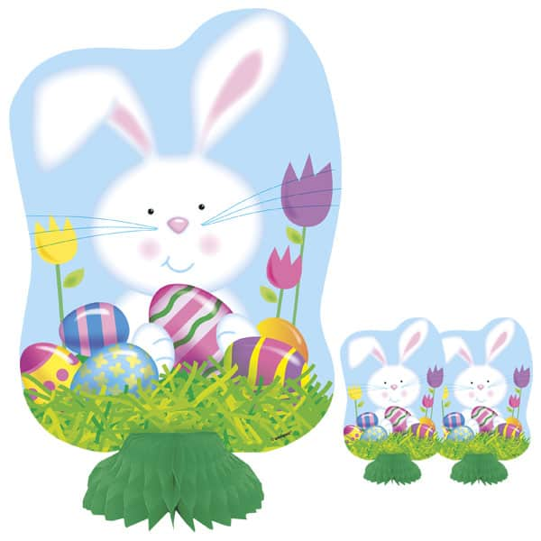 Easter Bunny Honeycomb Decorations - 8 Inches / 20cm - Pack of 3 Product Image
