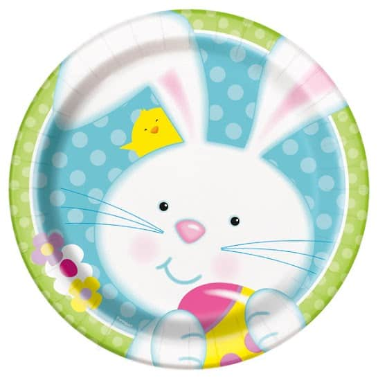 Easter Bunny Round Paper Plate 22cm