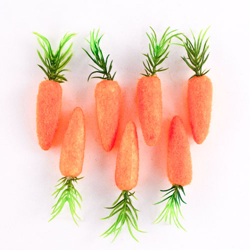 Easter Carrots Decorations 8cm - Pack of 7