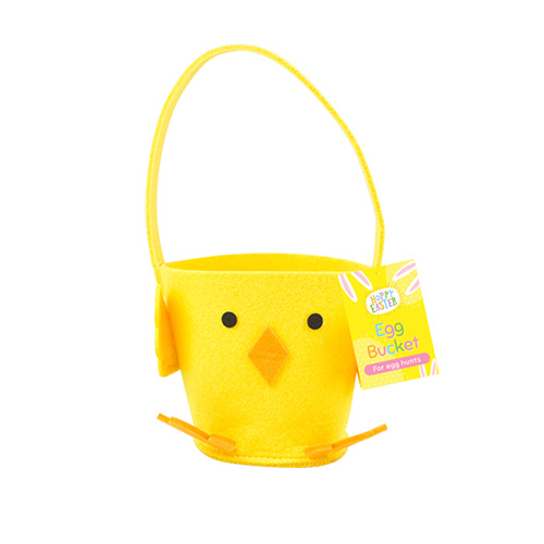 Easter Chick Egg Hunt Felt Bucket 10cm Product Image