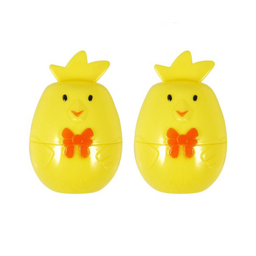 Easter Chick Refillable Plastic Eggs 8cm - Pack of 2