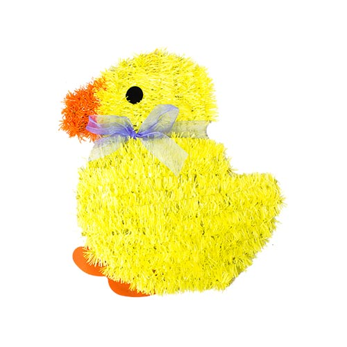 Easter Chick Tinsel Wall Plaque Hanging Decoration 28cm