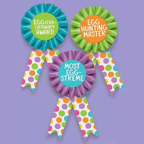 Easter Egg Hunt Award Ribbons - Pack of 3