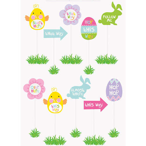 Easter Egg Hunt Clue Signs - Pack of 10