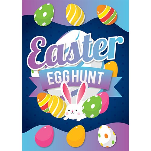 Easter Egg Hunt Colourful A3 Poster PVC Party Sign Decoration 42cm x 30cm Product Gallery Image