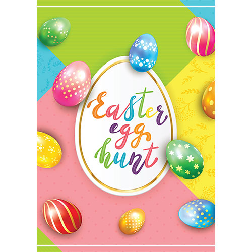 Easter Egg Hunt Glowing Colourful Eggs A2 Poster PVC Party Sign Decoration 59cm x 42cm Product Gallery Image