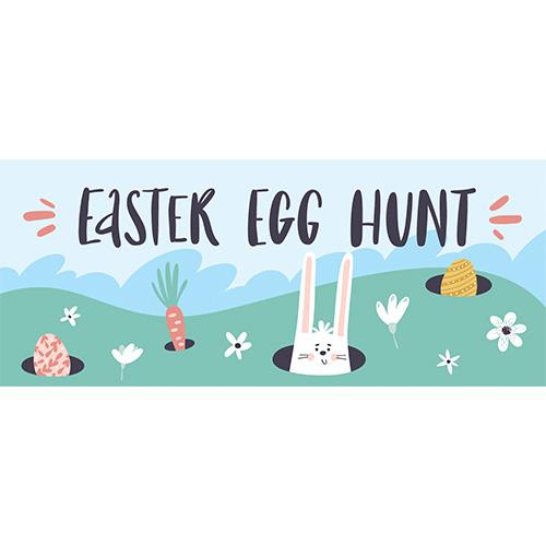 Easter Egg Hunt Holes PVC Party Sign Decoration 60cm x 25cm Product Image