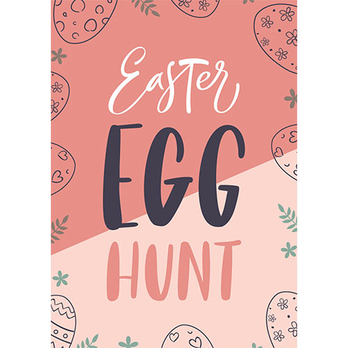 Easter Egg Hunt Pastel A3 Poster PVC Party Sign Decoration 42cm x 30cm Product Gallery Image