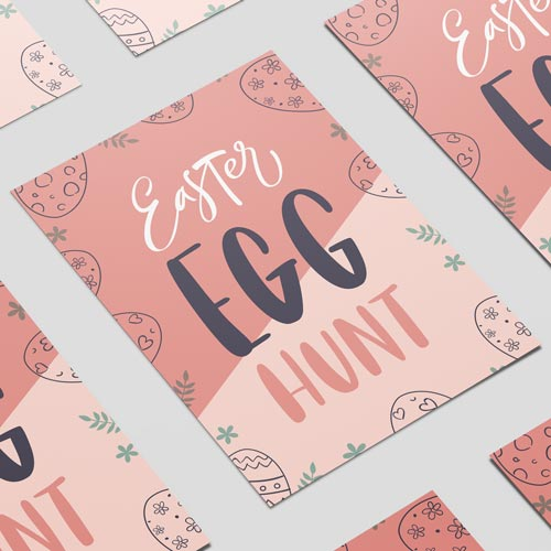 Easter Egg Hunt Pastel A3 Poster PVC Party Sign Decoration 42cm x 30cm Product Image