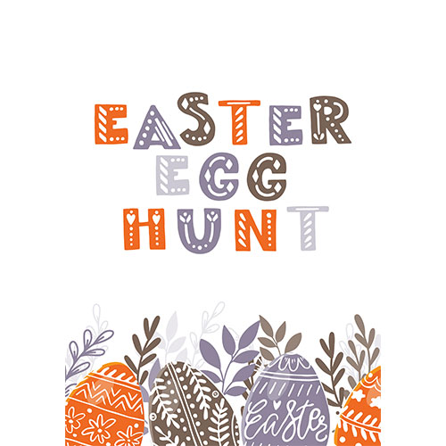 Easter Egg Hunt Patterns A2 Poster PVC Party Sign Decoration 59cm x 42cm Product Gallery Image