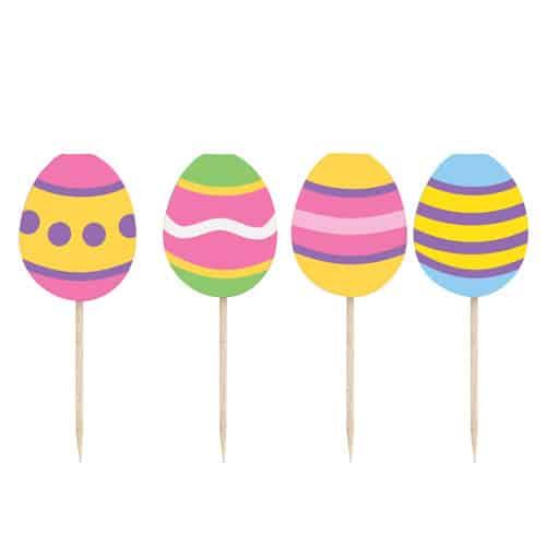 Easter Eggs Picks - Pack of 8