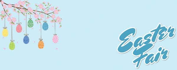 Easter Fair Pink Blossoms Design Small Personalised Banner - 4ft x 2ft
