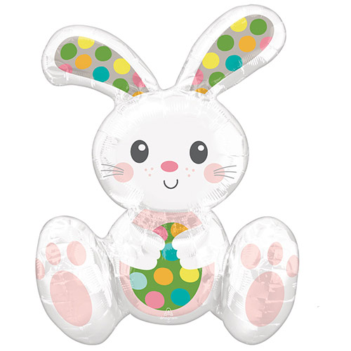 Easter Sitting Bunny Air Fill Foil Balloon 50cm / 20 in