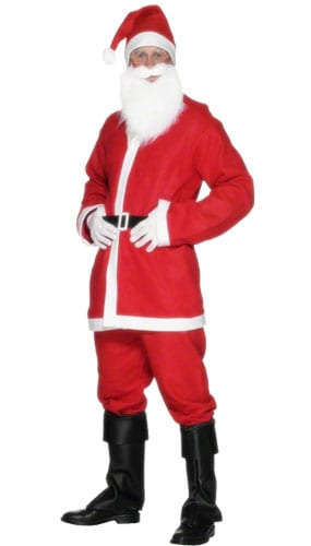 Economy Santa Costume Large Mens Fancy Dress
