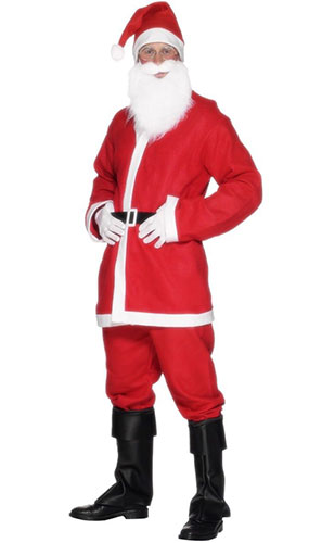 Economy Santa Costume Men Christmas Fancy Dress - Medium