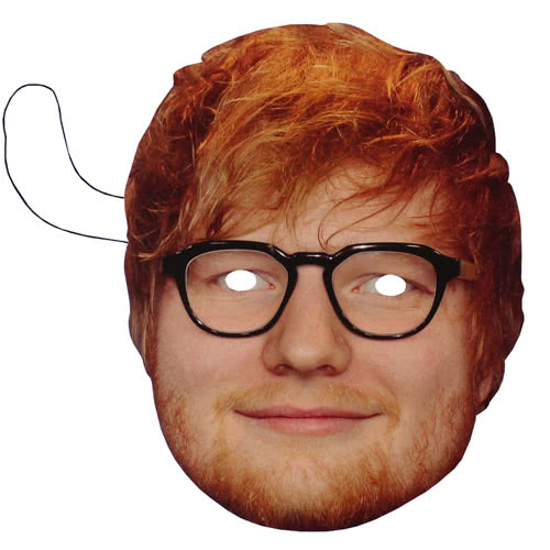 Ed Sheeran Cardboard Face Mask