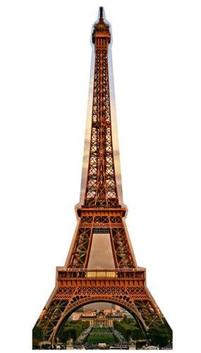 Eiffel Tower Lifesize Cardboard Cutout - 186cm Product Image