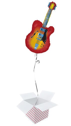 Electric Guitar Helium Foil Giant Balloon - Inflated Balloon in a Box