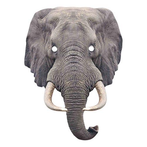 Elephant Animal Cardboard Face Mask