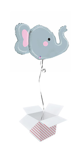 Elephant Multi-Sided Helium Foil Giant Balloon - Inflated Balloon in a Box Product Gallery Image