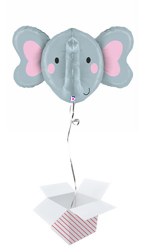Elephant Multi-Sided Helium Foil Giant Balloon - Inflated Balloon in a Box