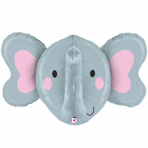 Elephant Multi-Sided Helium Foil Giant Balloon 86cm / 34 in Product Image