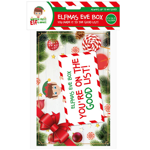 Elf Christmas Eve Box 26cm Product Gallery Image