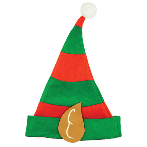 Elf Hat with Ears Adults Christmas Fancy Dress Product Image