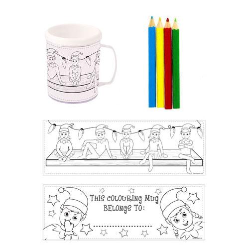 Elfin Around Colouring Mug With Pencils Product Image