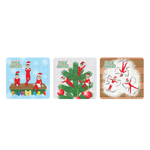 Assorted Elfin Around Christmas Jigsaw Puzzle