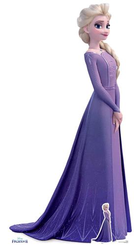 Elsa Violet Dress Disney Frozen 2 Lifesize Cardboard Cutout 181cm