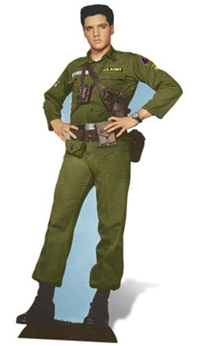 Elvis Army Days Lifesize Cardboard Cutout - 186cm Product Image