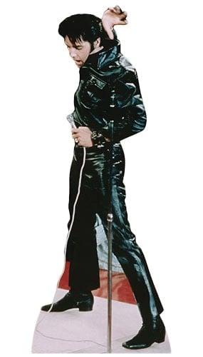 Elvis Black Leather Lifesize Cardboard Cutout - 184cm Product Image
