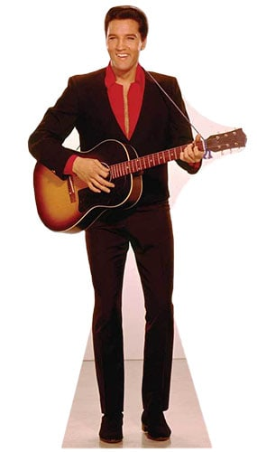 Elvis Presley Red Shirt And Guitar Lifesize Cardboard Cutout - 180cm Product Image