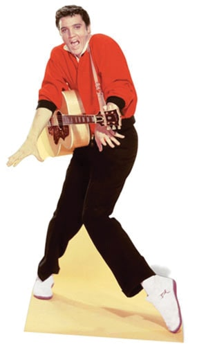 Elvis Red Jacket and Guitar Lifesize Cardboard Cutout - 186cm Product Image