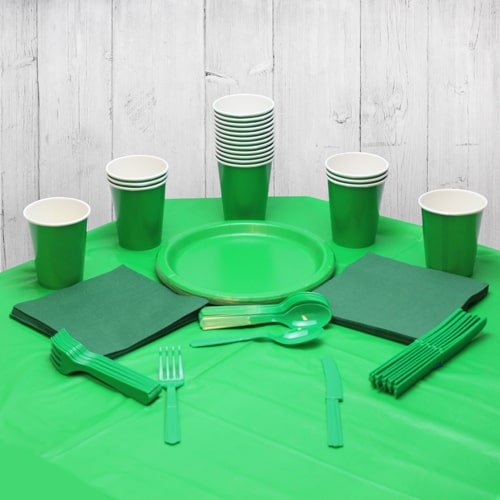 Emerald Green 18 Person Party Pack
