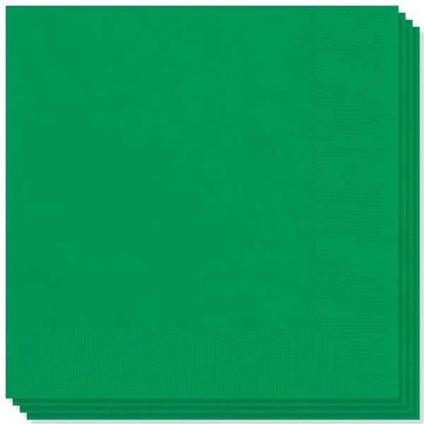 Emerald Green 2 Ply Napkins - 13 Inches / 33cm - Pack of 100